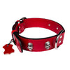 European Leather Skull Collar - Large