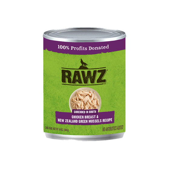 RAWZ Shredded Chicken Breast & New Zealand Green Mussels