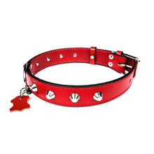 European Leather Studded Collar - Small