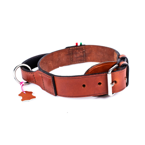 Italian Handle Leather Collar - Large