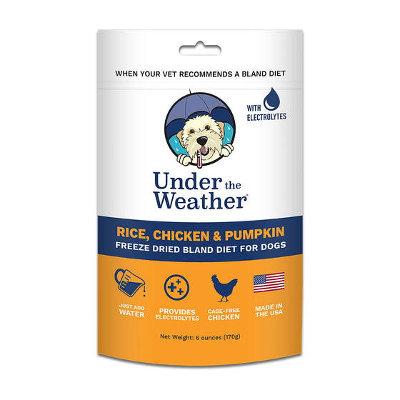 Under the Weather Freeze-Dried Bland Diet-Rice, Chicken & Pumpkin