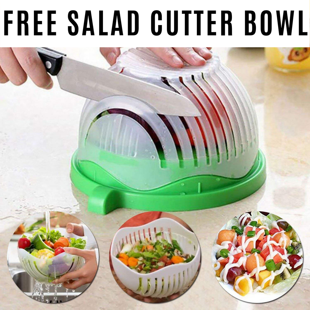 Salad Cutter Bowl,Vegetable Cutter Bowl - Make Your Salad in 60 Seconds