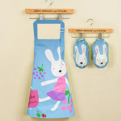 Cartoon Waterproof Baby Boy Girl  Apron