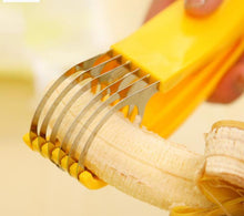 Load image into Gallery viewer, Stainless Steel Banana Slicer Fruit Cutter