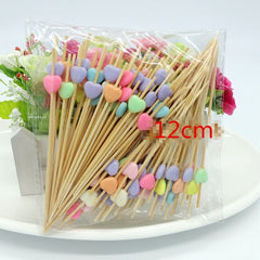 100 PC Multi Food Picks Cupcake Toppers
