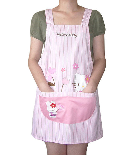 Kitchen Apron Woman Pink Hello Kitty