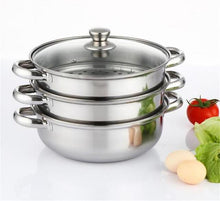 Load image into Gallery viewer, Pot Stew with Steamer Stainless Steel