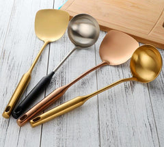 Gold Ladle Spoon Cooking Tool
