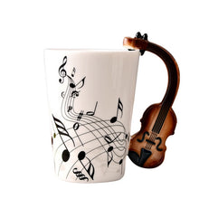 Load image into Gallery viewer, Musical Note Mug With Instrument Handle