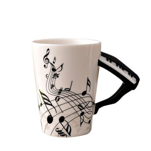 Musical Note Mug With Instrument Handle