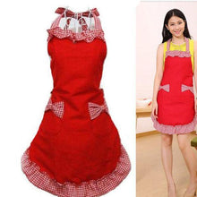 Load image into Gallery viewer, Retro Women Bow-knot Restaurant  Apron
