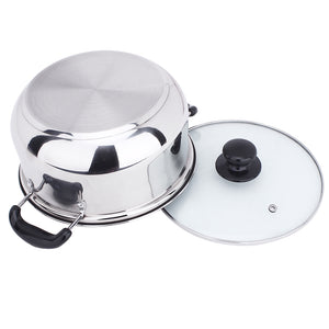 Stainless Steel Double Bottom Pot Soup  Pan
