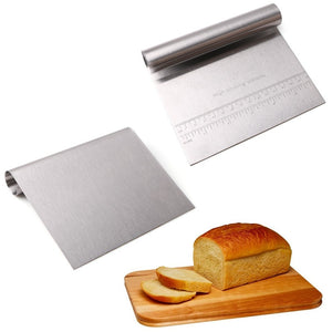 1 PCS Stainless Steel Dough Scraper