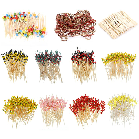 100 pcs Bamboo Food Picks