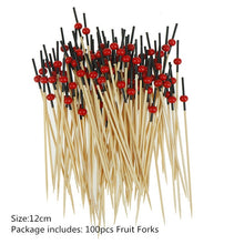 Load image into Gallery viewer, 100 pcs Bamboo Food Picks