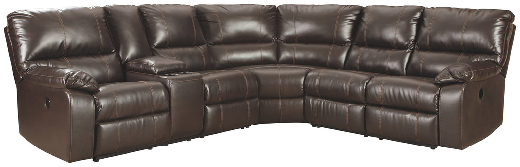 Warstein Signature Design by Ashley 3-Piece Power Reclining Sectional