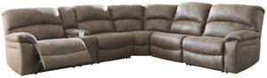 Segburg Benchcraft 4-Piece Power Reclining Sectional