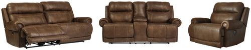 Austere Signature Design Traditional Power Reclining 3-Piece Living Room Set