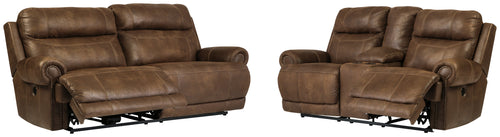 Austere Signature Design Traditional Power Reclining 2-Piece Living Room Set