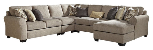 Pantomine Benchcraft 5-Piece Sectional with Chaise