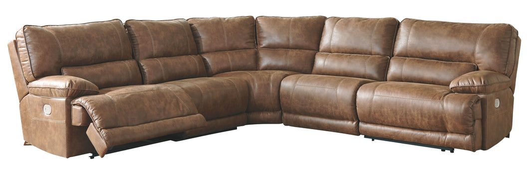 Thurles Signature Design by Ashley 5-Piece Power Reclining Sectional