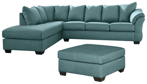 Darcy Signature Design 3-Piece Living Room Set with Oversized Ottoman