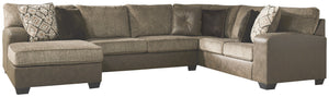 Abalone Benchcraft 3-Piece Sectional with Chaise
