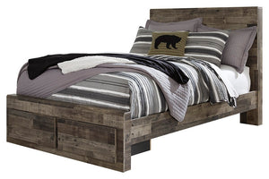 Benchcraft Derekson Full Panel Bed with 2 Storage Drawers