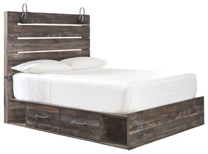 Signature Design by Ashley Drystan Twin Panel Bed with 2 Storage Drawers