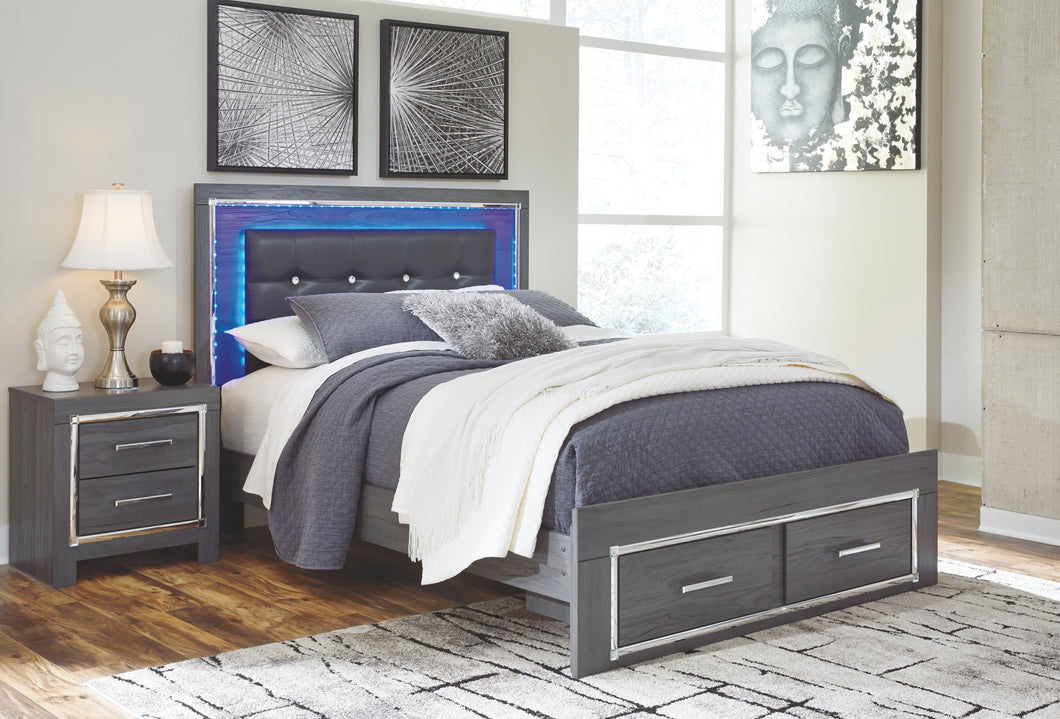 Signature Design by Ashley Lodanna Queen Panel Bed with 2 Storage Drawers