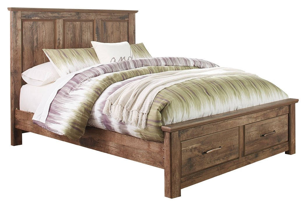 Signature Design by Ashley Blaneville Queen Panel Bed with 2 Storage Drawers