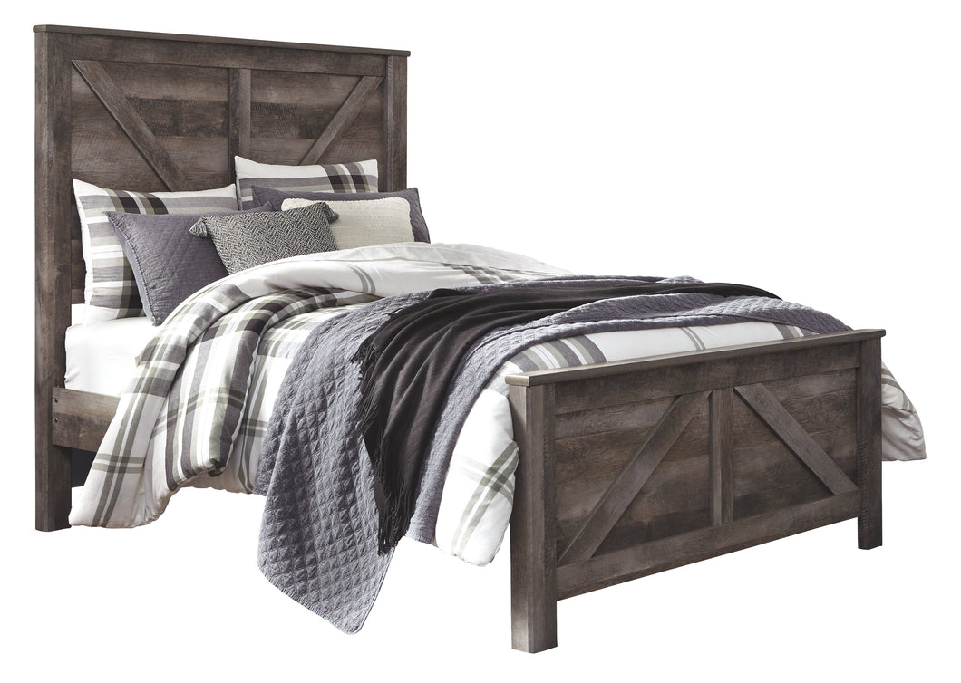 Signature Design by Ashley Wynnlow Queen Crossbuck Panel Bed