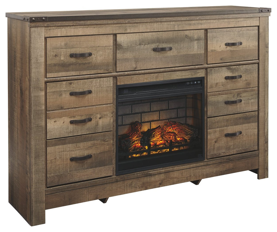 Trinell Signature Design by Ashley Dresser with Electric Fireplace