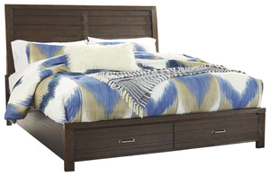 Signature Design by Ashley Darbry King Panel Bed with 2 Storage Drawers