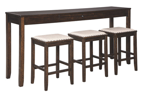 Rokane Signature Design by Ashley Counter Height Table Set of 4