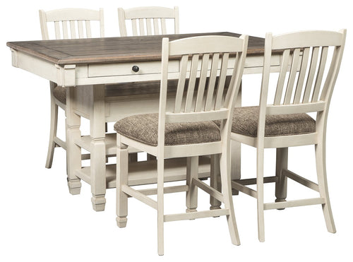 Bolanburg Signature Design Counter Height 5-Piece Dining Room Set