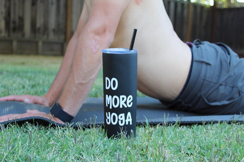Do More Yoga Black Skinny Tumbler