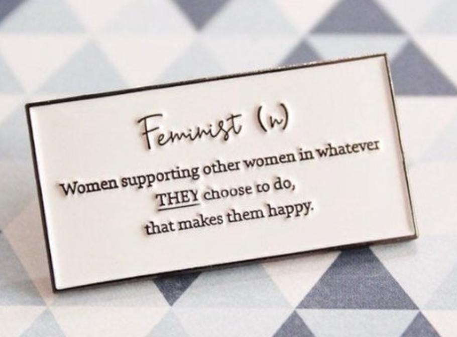 Definition of a Feminist Soft Enamel Pin