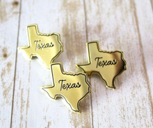Texas Gold State Pin