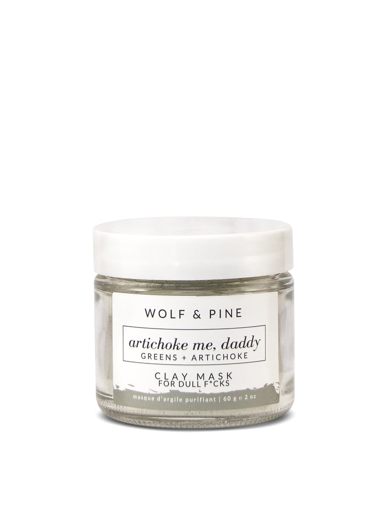 Artichoke Me, Daddy - Clay Mask - Wolf & Pine Herbals
