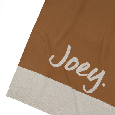 *** Panel Brown Sugar & Stone Marl Personalized Name Blanket