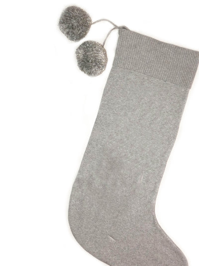 Dasher Grey Marl & Ivory Dasher Personalized Christmas Stocking
