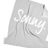 Grey Marl & Ivory Personalized Name Blanket