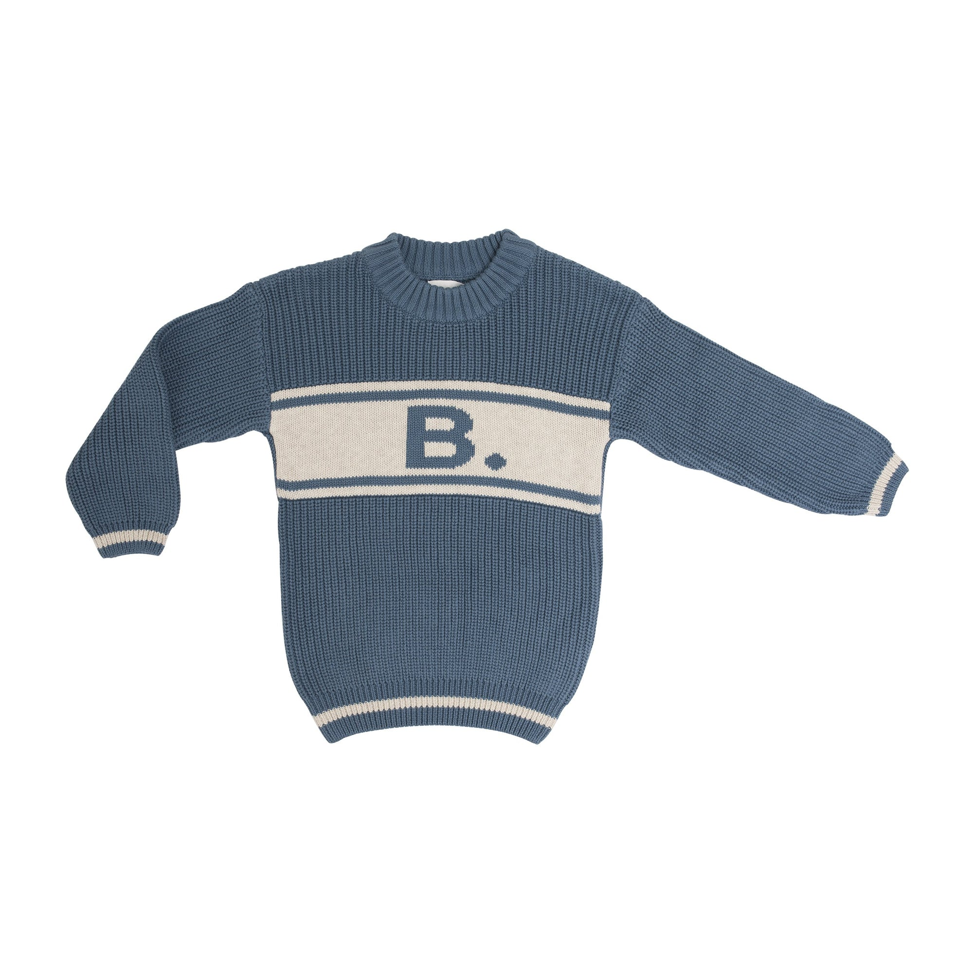*** Alphabet Sweater Blue Aviation & Coconut Marl