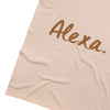 *** Rose Pink & Apple Cinnamon Personalized Name Blanket