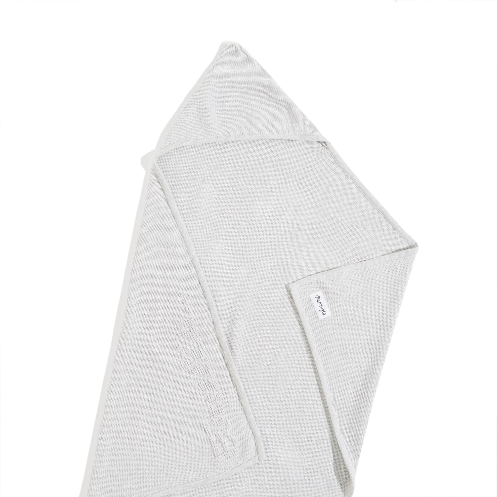 HOODED WRAP SNOW GREY MARLE PERSONALIZED BLANKET