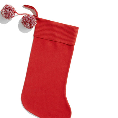 Dasher Red & Ivory Personalized Christmas Stocking