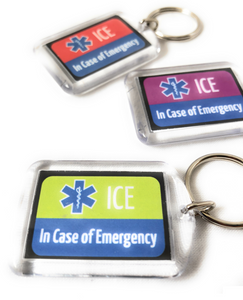 ICE Keyring Red