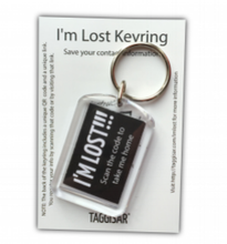 Load image into Gallery viewer, I'm Lost Keyring Black
