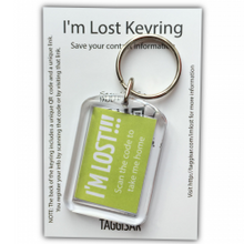 Load image into Gallery viewer, I'm Lost Keyring Green